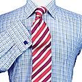 Men's Taylor Royal Twill Check Sea Island Quality Slim Fit Shirt