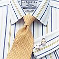 Men's Johnson Yellow & Blue Stripe Non-iron Shirt