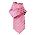 Joshua Pink Fine Stripe Woven Tie