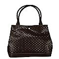 Black Woven Leather Handbag