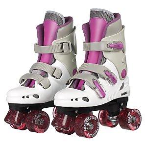 Phoenix Quad Roller Boots, Purple, Size 4