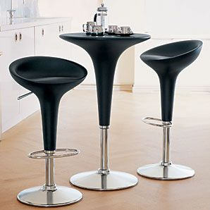 Magis Bombo Table and Bar Chair, Graphite