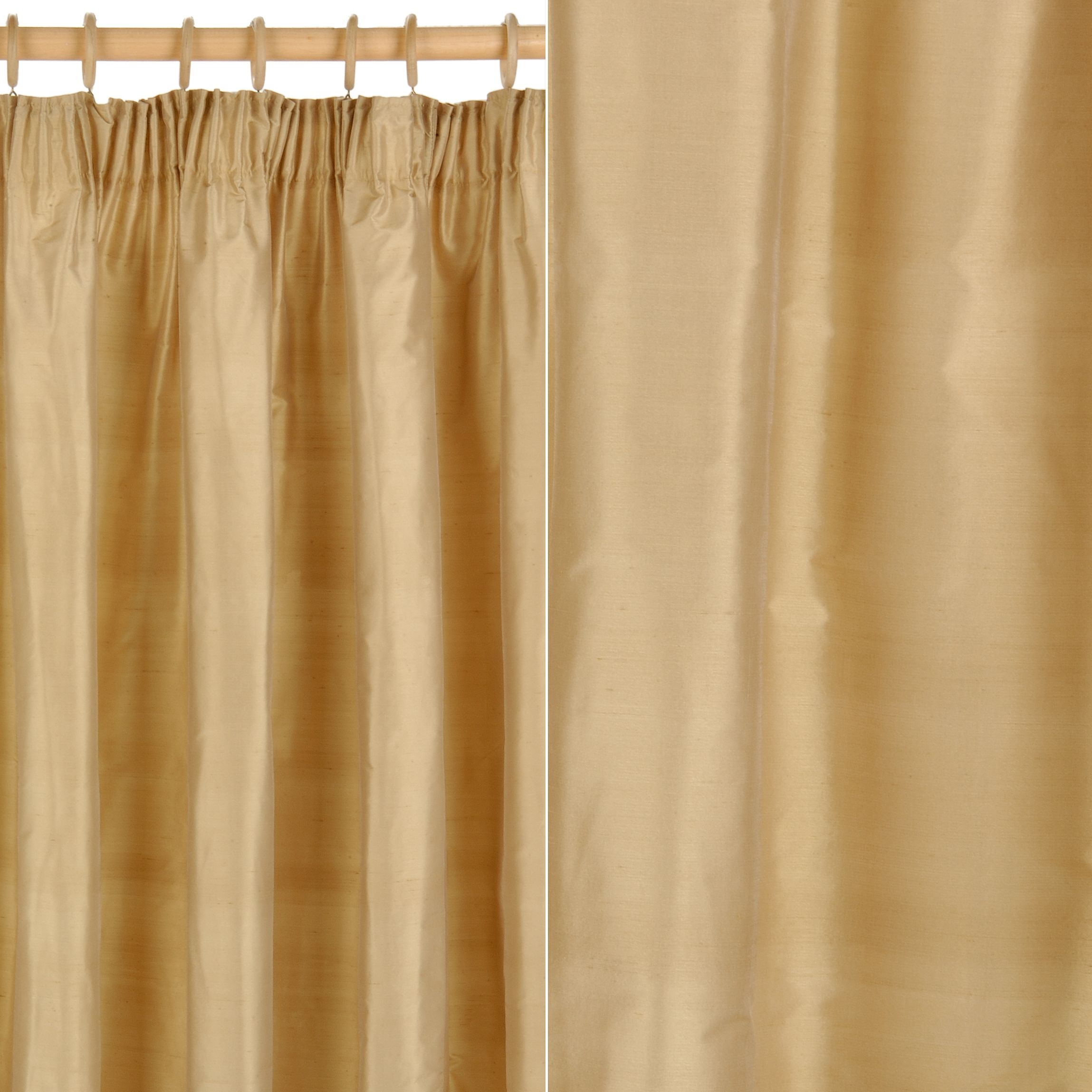 Lightweight Fabric For Curtains John Lewis Plain Silk Pencil Pleat Curtains Gold Review