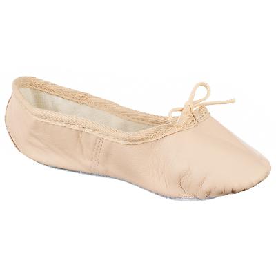 John Lewis Girl Leather Ballet Shoes, Salmon