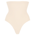 John Lewis Medium Control High Waist Briefs, Beige