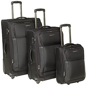 John Lewis Voyage Pro Trolley Cases, Black, Small