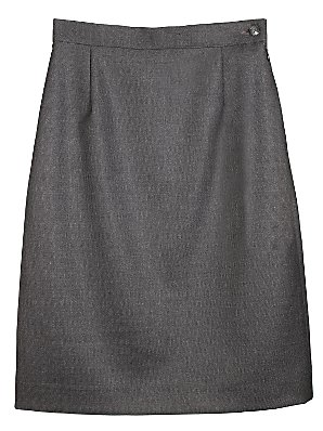 John Lewis Wool Mix Pencil Skirt, Charcoal, Age 15 Regular