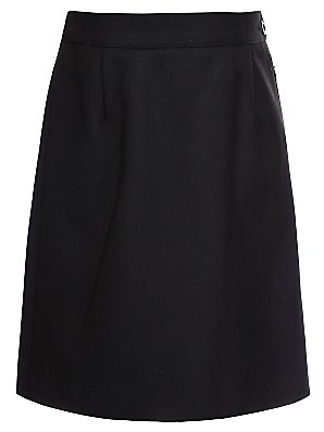 John Lewis Wool Mix Pencil Skirt, Black, Age 16 Long