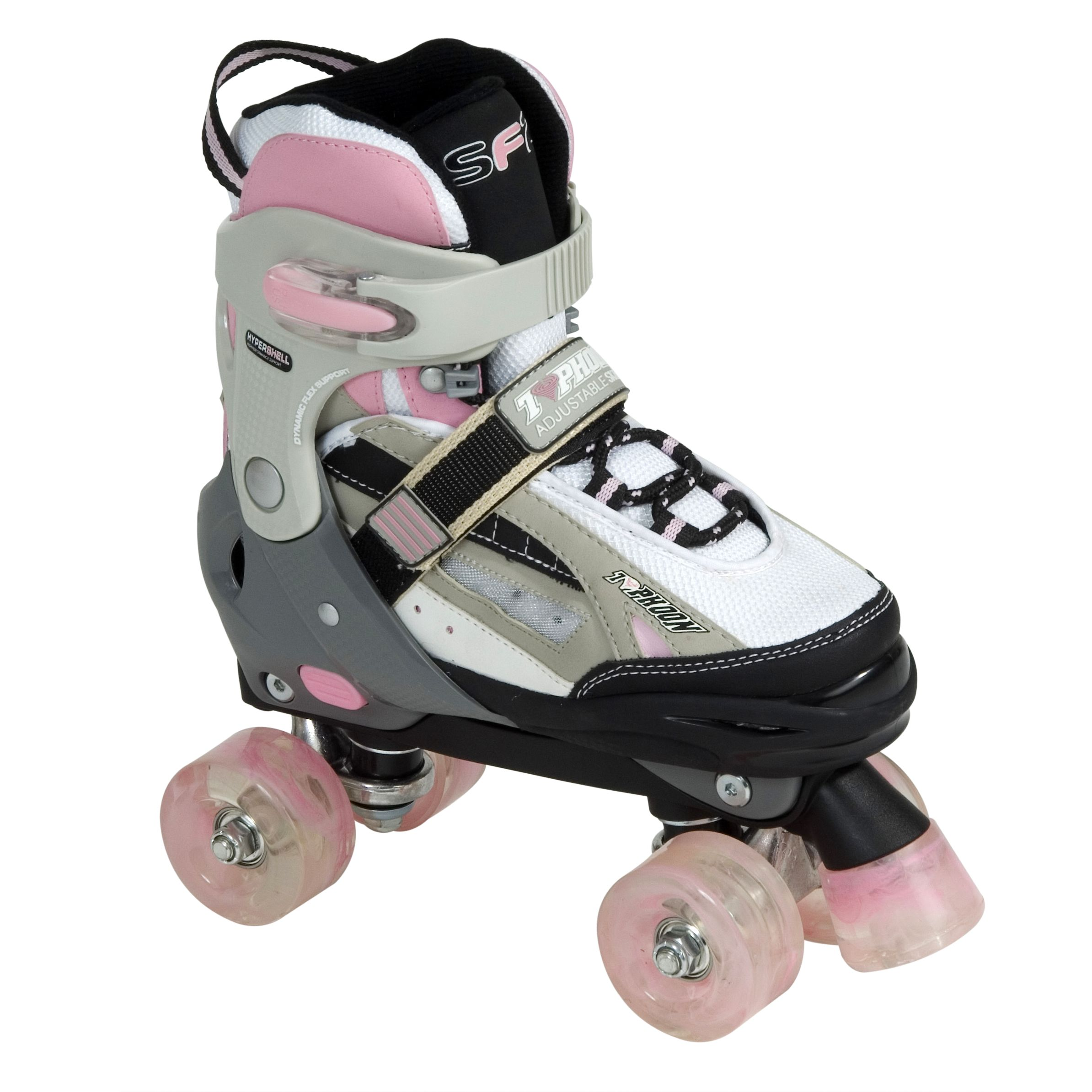 Stateside Typhoon Adjustable Quad Skates, Pink