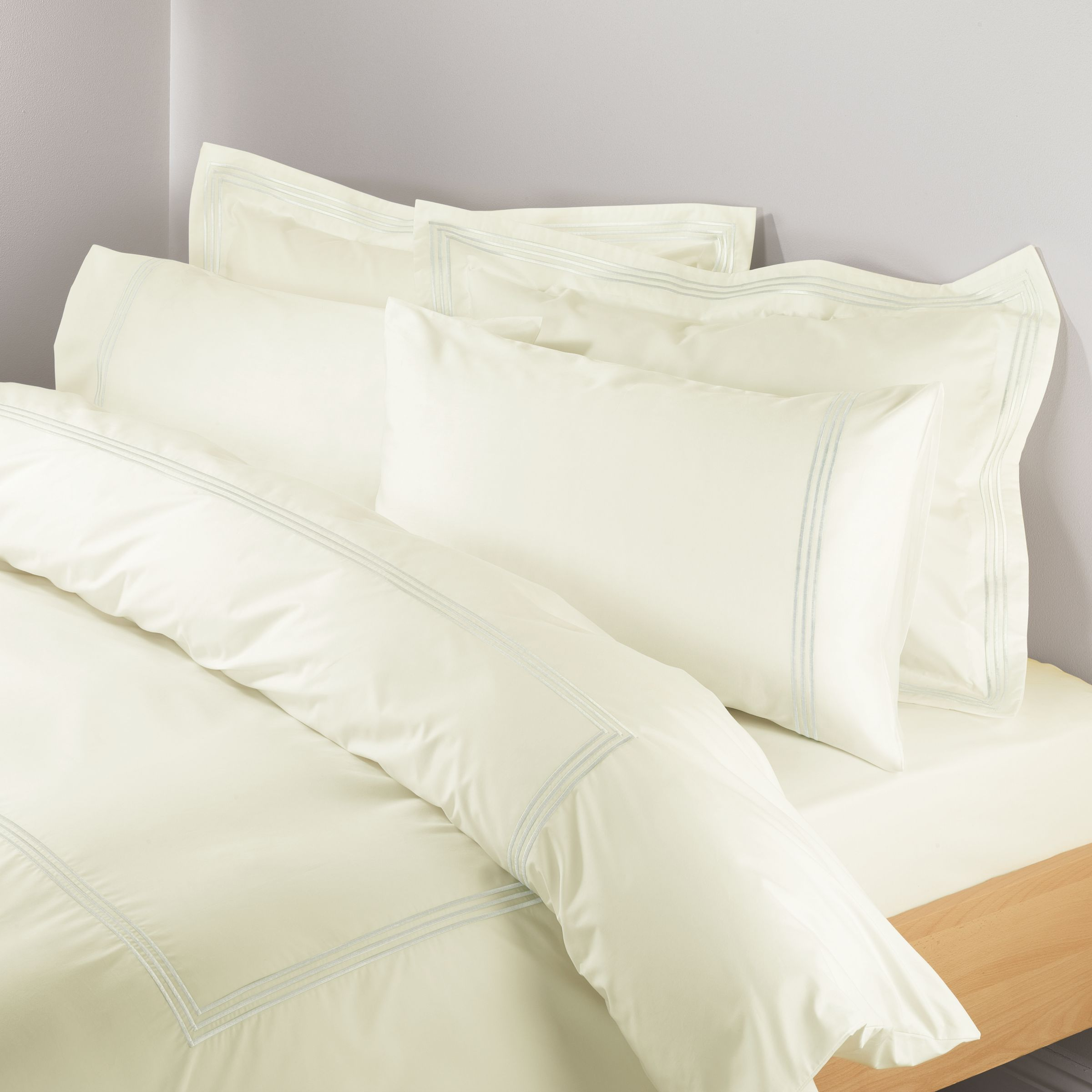 Pima 3 Row Cord Duvet Covers, Oyster