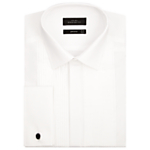 John Lewis Pleated Front Point Collar Double Cuff Dress Shirt