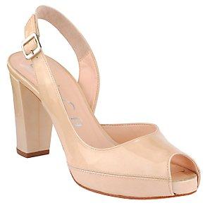 Unisa Nesera Platform Slingback Shoes, Sand, Size 5