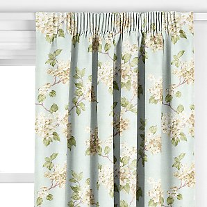 Blossom Pencil Pleat Curtains, Duck