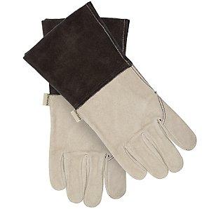 John Lewis Leather Gauntlet Gloves, Large