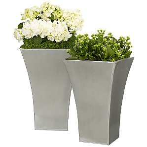 John Lewis Flared Titanium Planter, Large