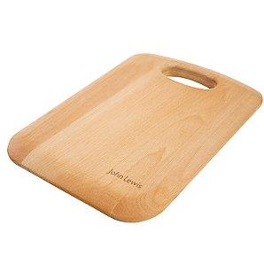 John Lewis FSC Wooden Handled Chopping Board, Small