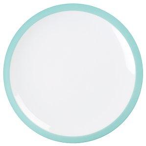 John Lewis Brights Dinner Plate, Aqua Green, Dia.27cm