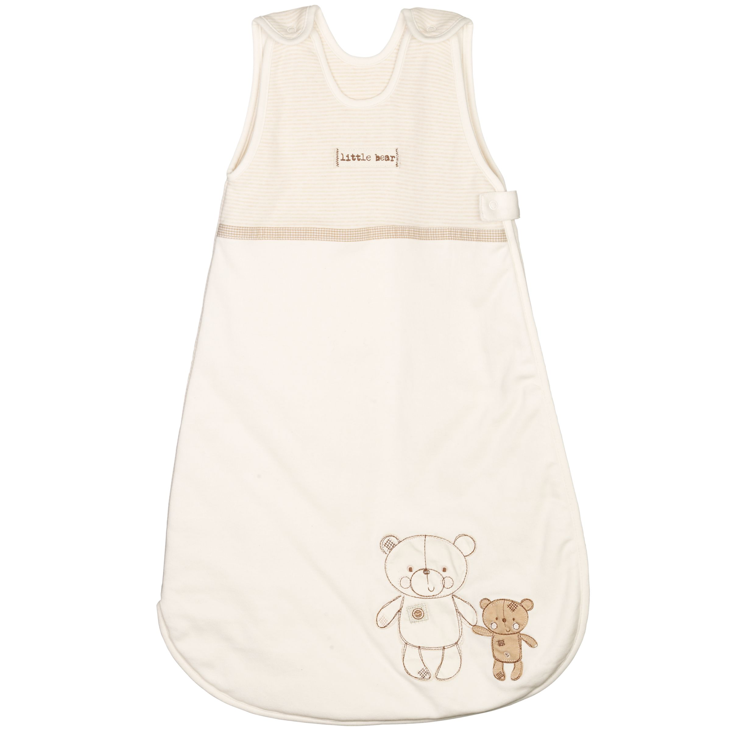 John Lewis Organic Teddies Sleeping Bag, 2.5 Tog