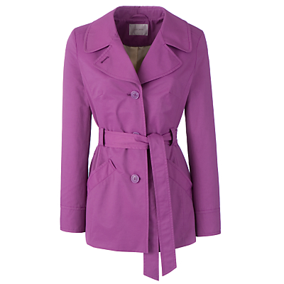 Buy John Lewis Belted Mac, Purple Passion online at JohnLewis.com - John Lewis