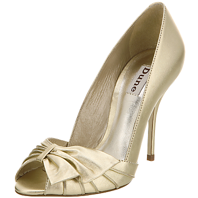 Gold Peep Toe Shoes For Bridesmaids