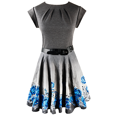 Buy Jesire Rose Print Dress, Grey online at JohnLewis.com - John Lewis