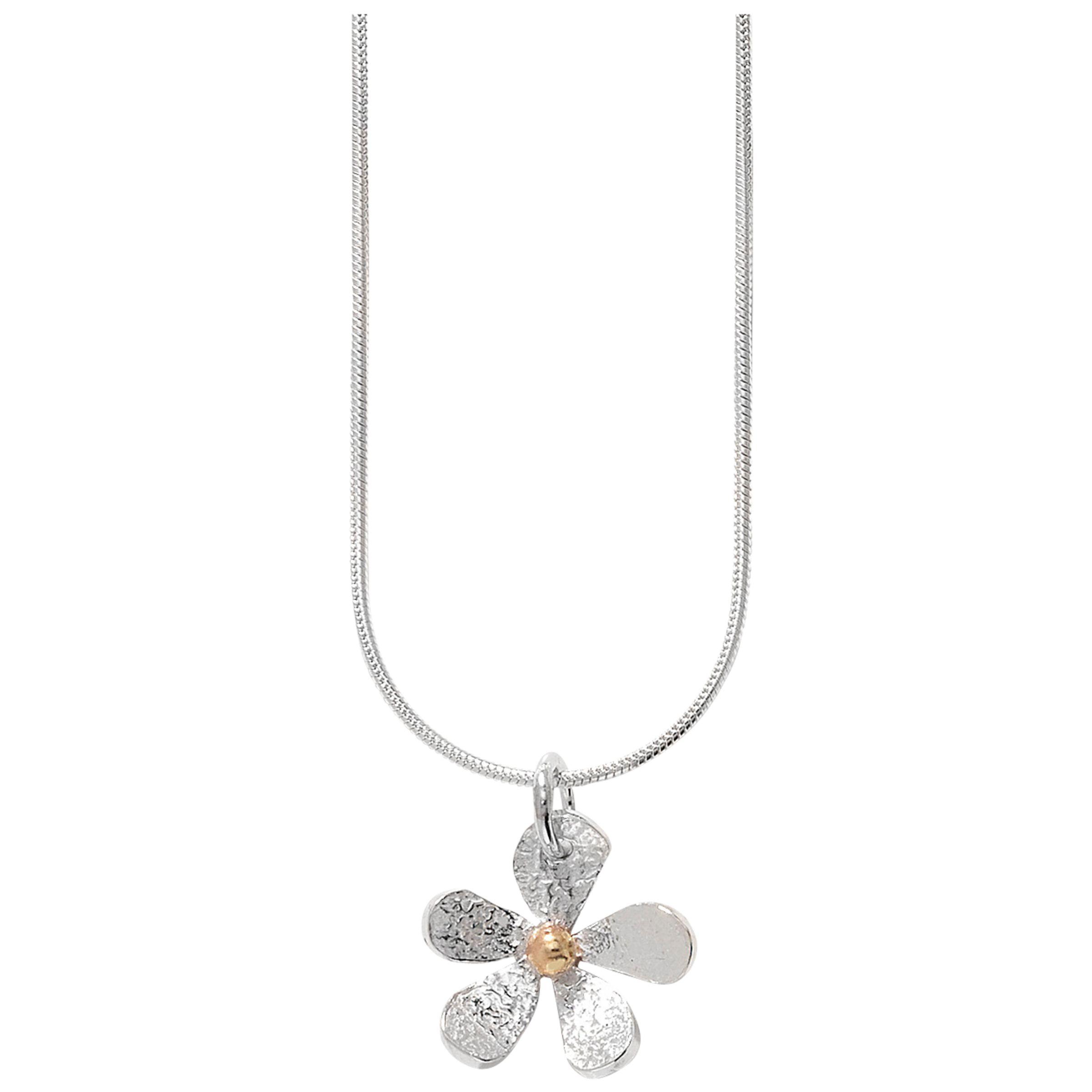 Linda Macdonald Daisy Necklace, Silver/Gold