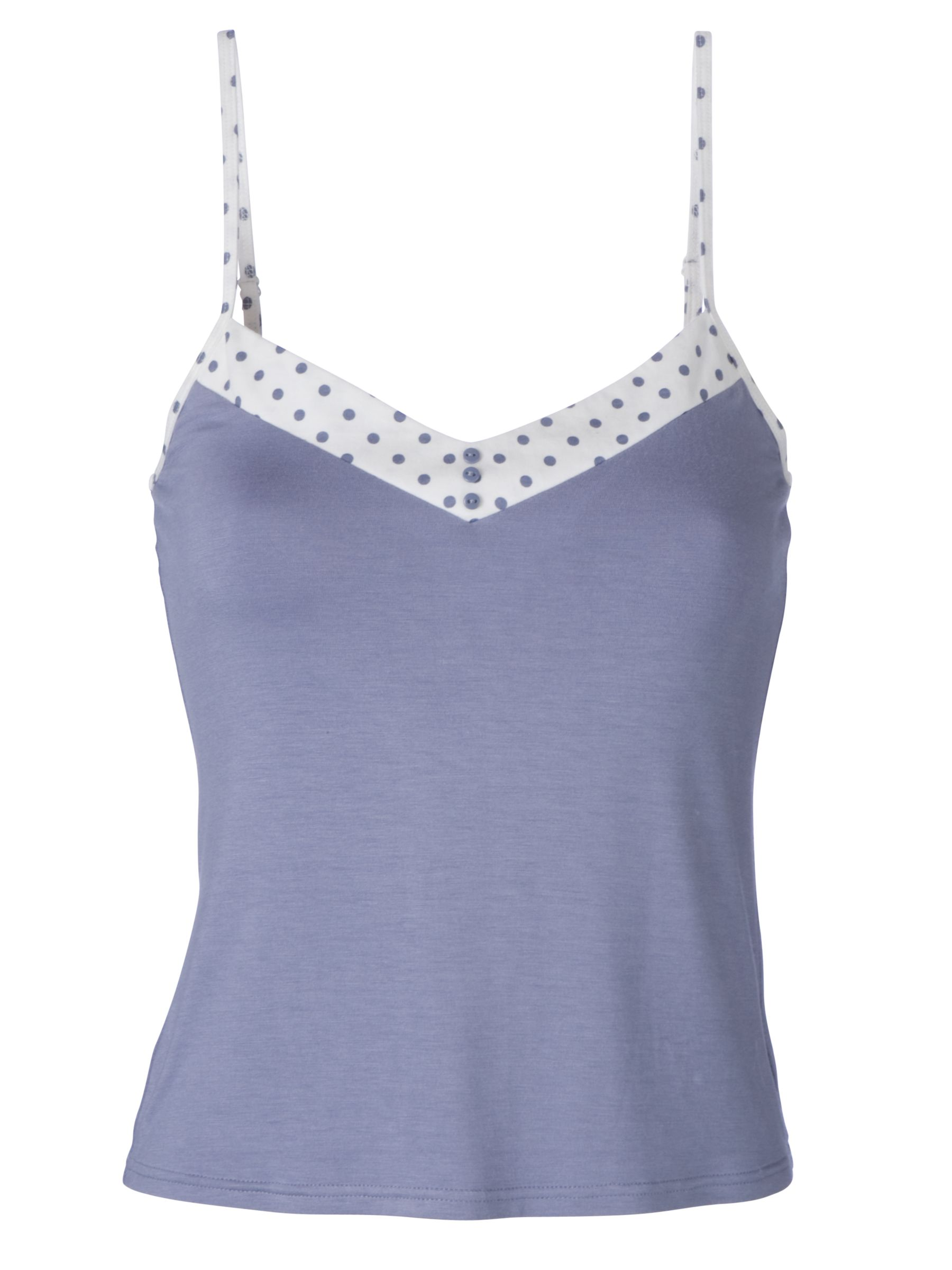 John Lewis Miranda Cami with Spot Trim, Blue