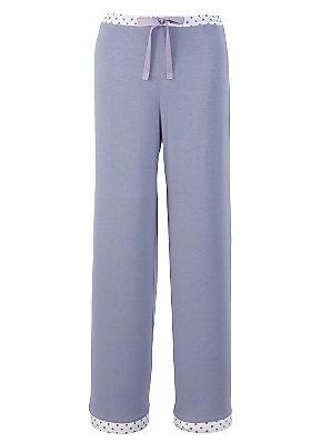 John Lewis Miranda Pyjama Pants, Blue, 18