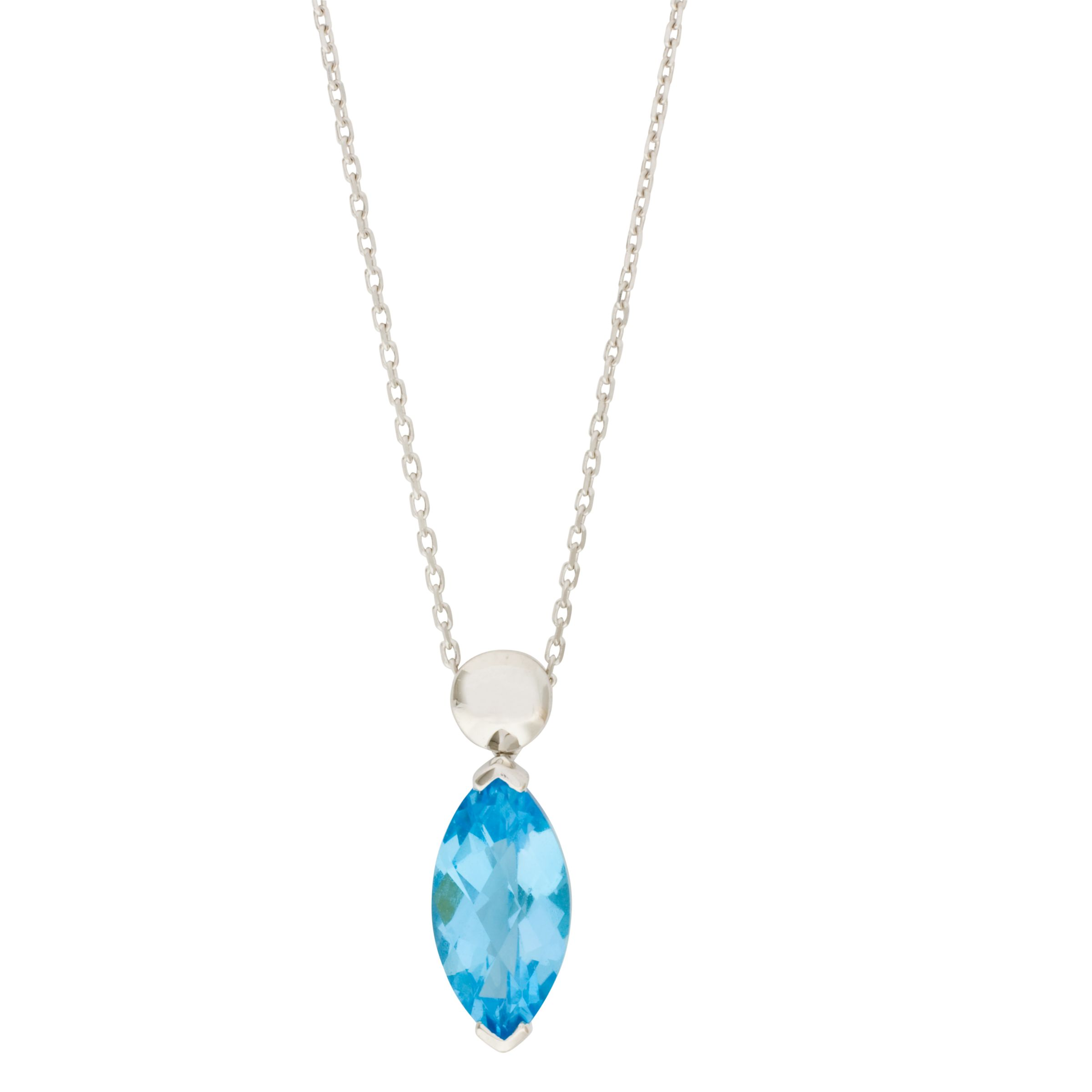 London Road Gold Topaz Pendant Necklace