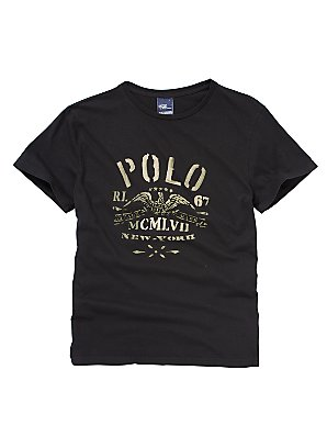 Polo Ralph Lauren Vintage Jersey T-Shirt, Black, XL