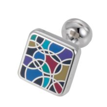Square Mile Square Cufflinks, Multicoloured