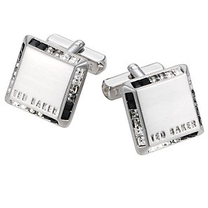 Ted Baker Square Cufflinks, Grey/Metallics