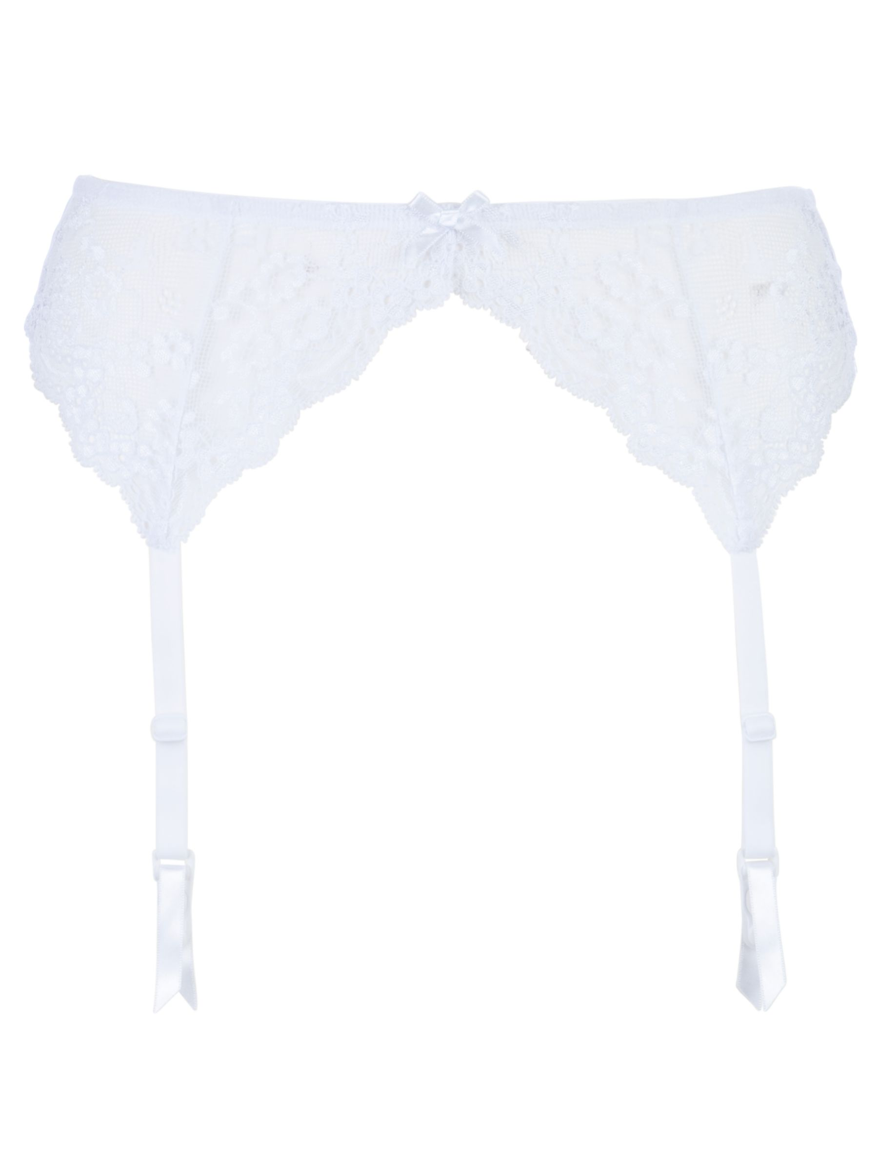 John Lewis New Gardenia Suspender Belt, White