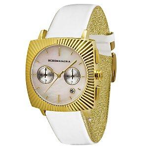 BCBG Max Azria BG6248 Women's Gold Square Dial Strap Watch
