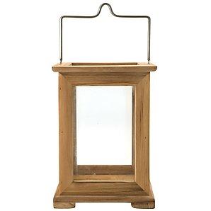 John Lewis Teak and Glass Lantern, Medium
