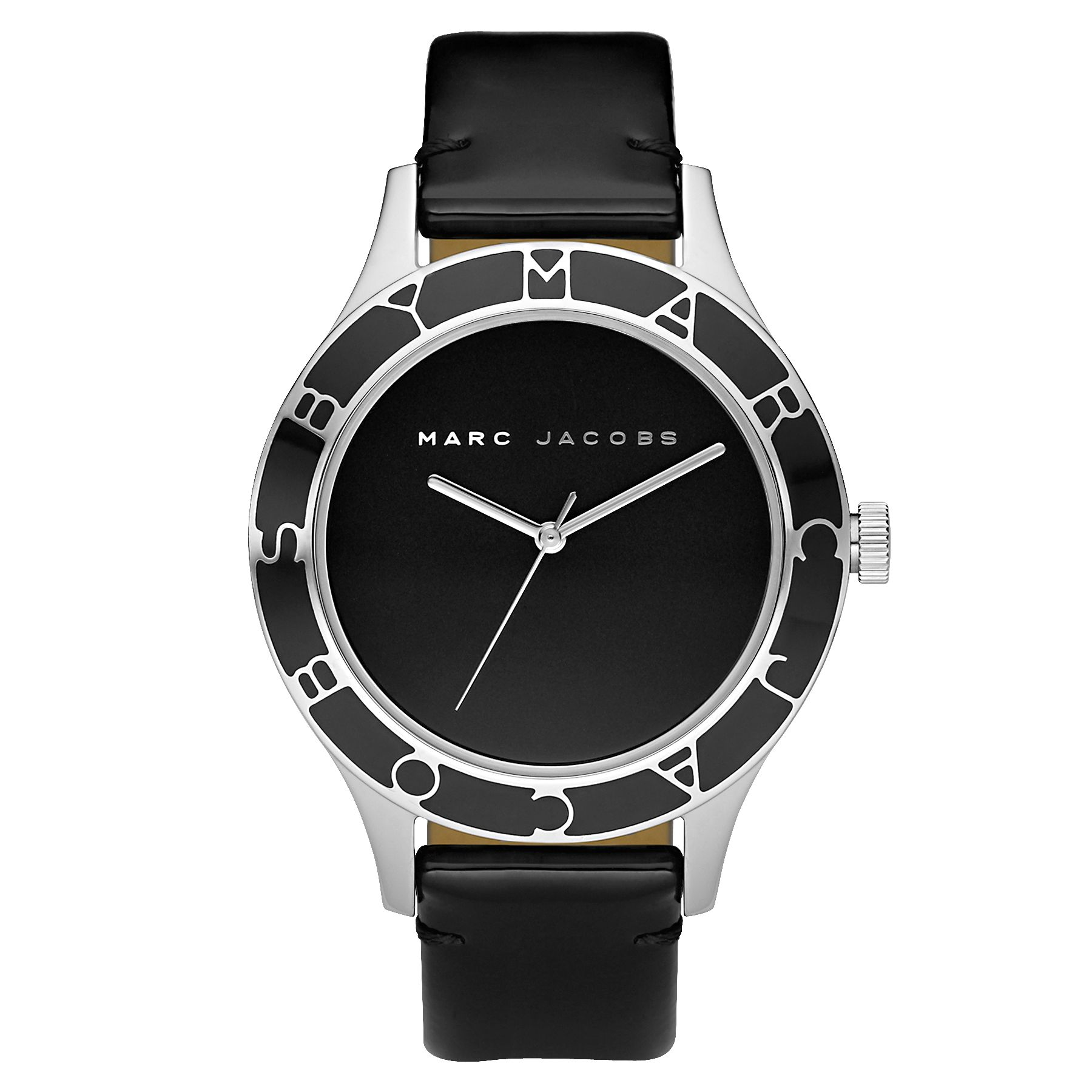 Marc by Marc Jacobs MBM1087 Black Round Dial Strap Watch