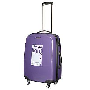 John Lewis Fuji Lite Trolley Cases, Purple, Medium