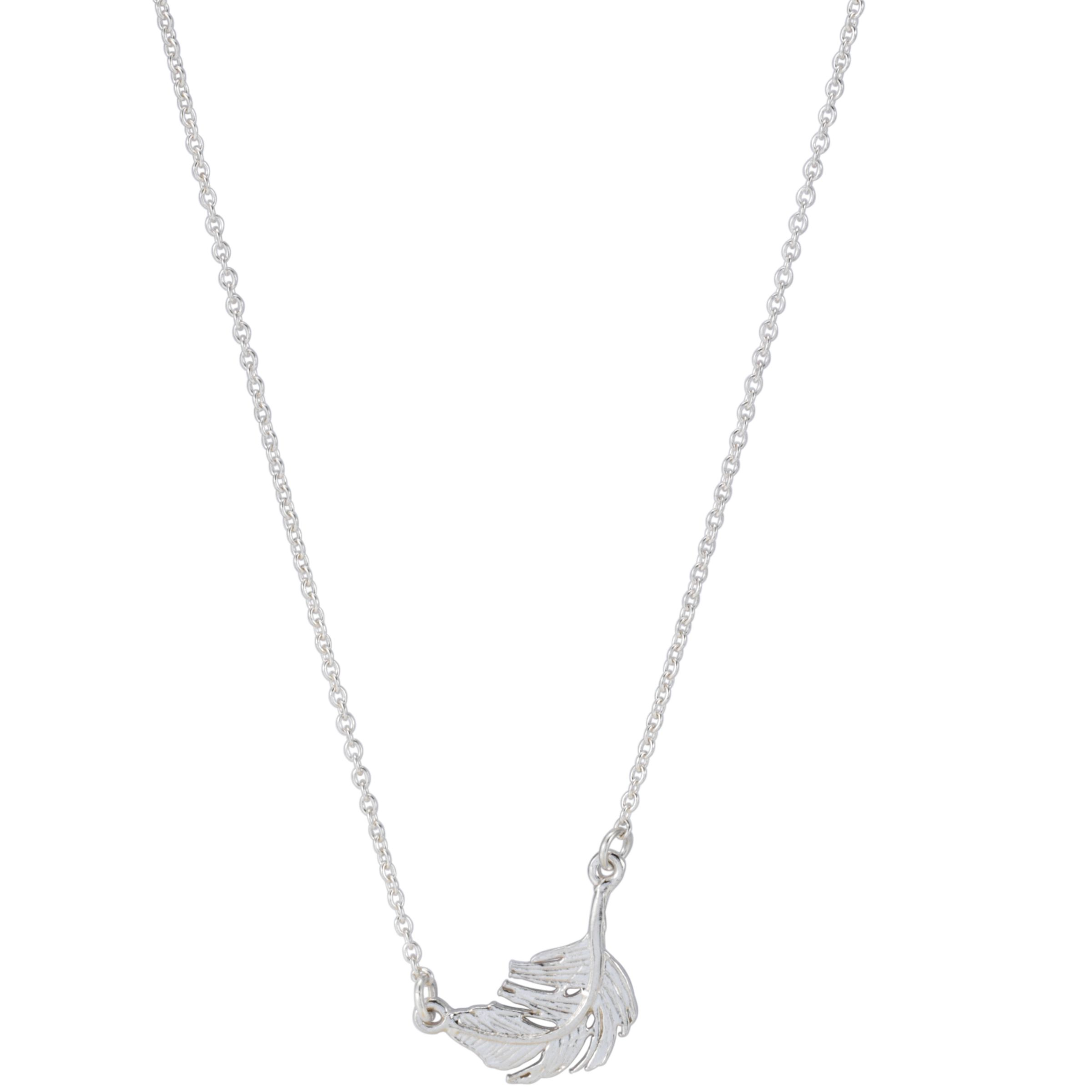 Alex Monroe Little Feather Silver Necklace