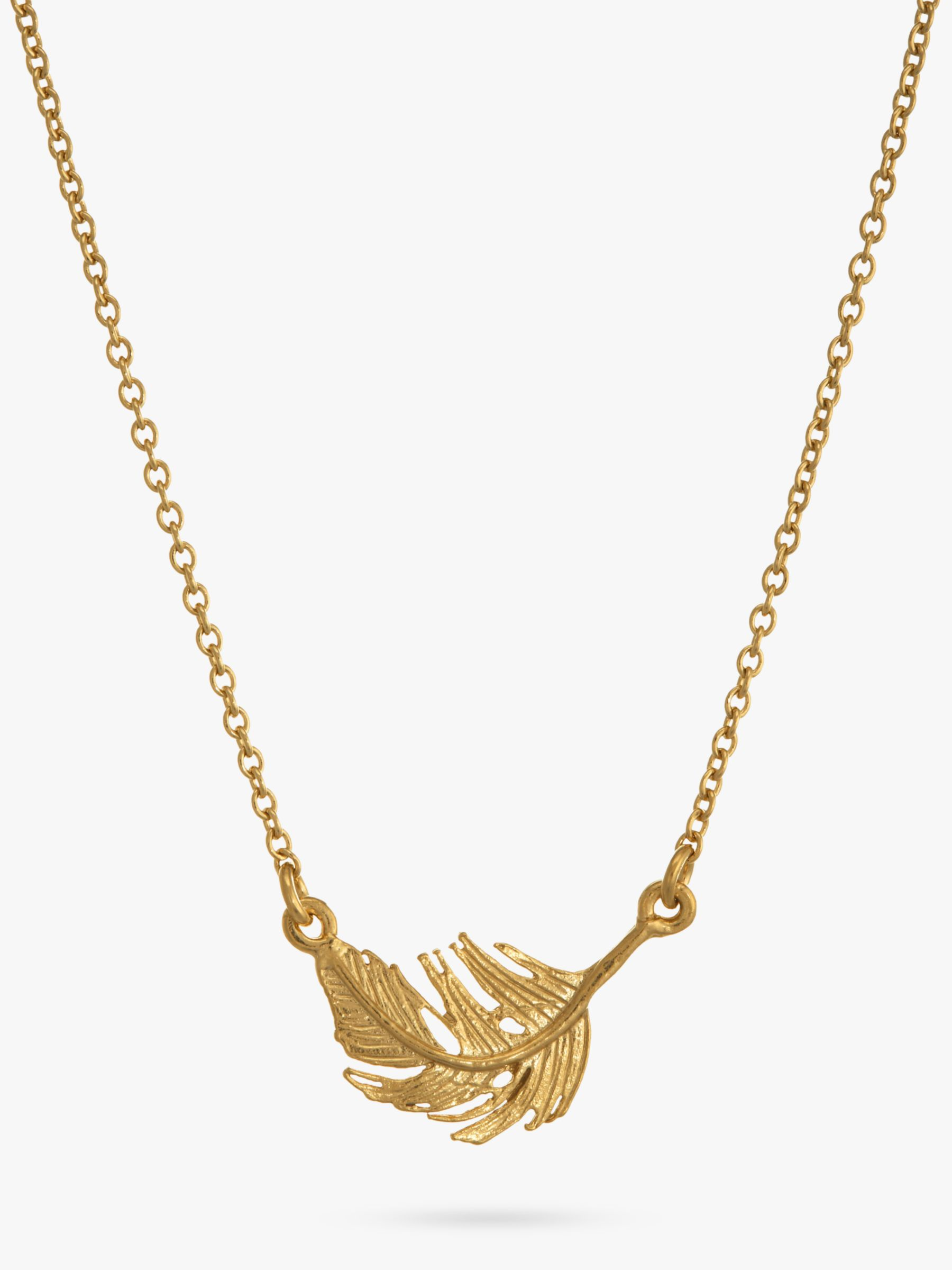 Alex Monroe Little Feather Gold Necklace
