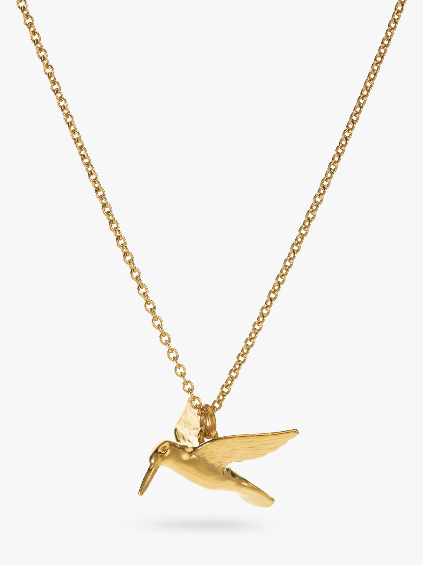 Alex Monroe Gold Hummingbird Necklace