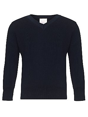 John Lewis V Neck Pullover Navy 9 10 years