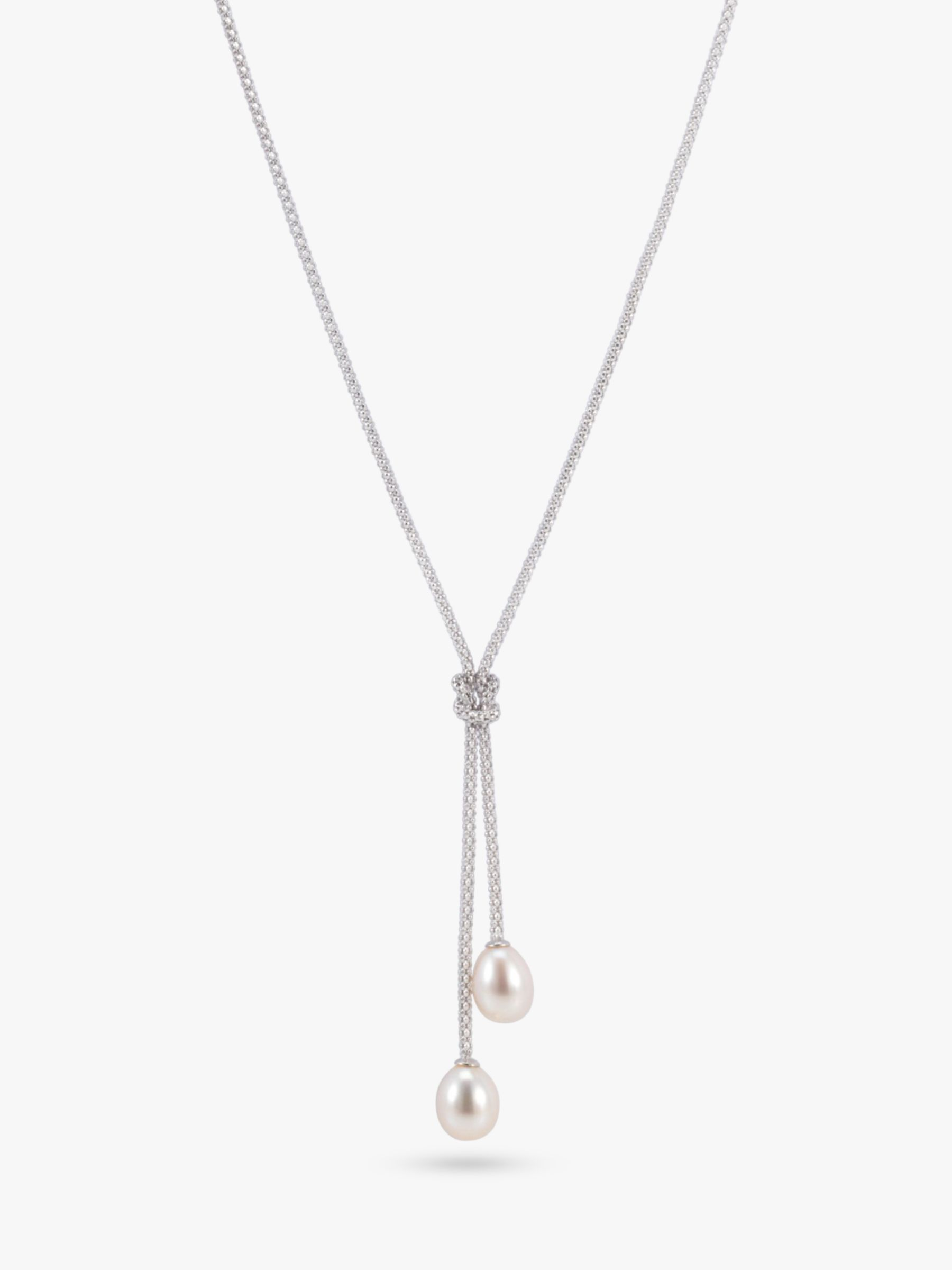 Lido Pearls Y Shape Knotted Drop Necklace