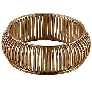 John Lewis Women Matte Antique Line Bangle Antique Gold