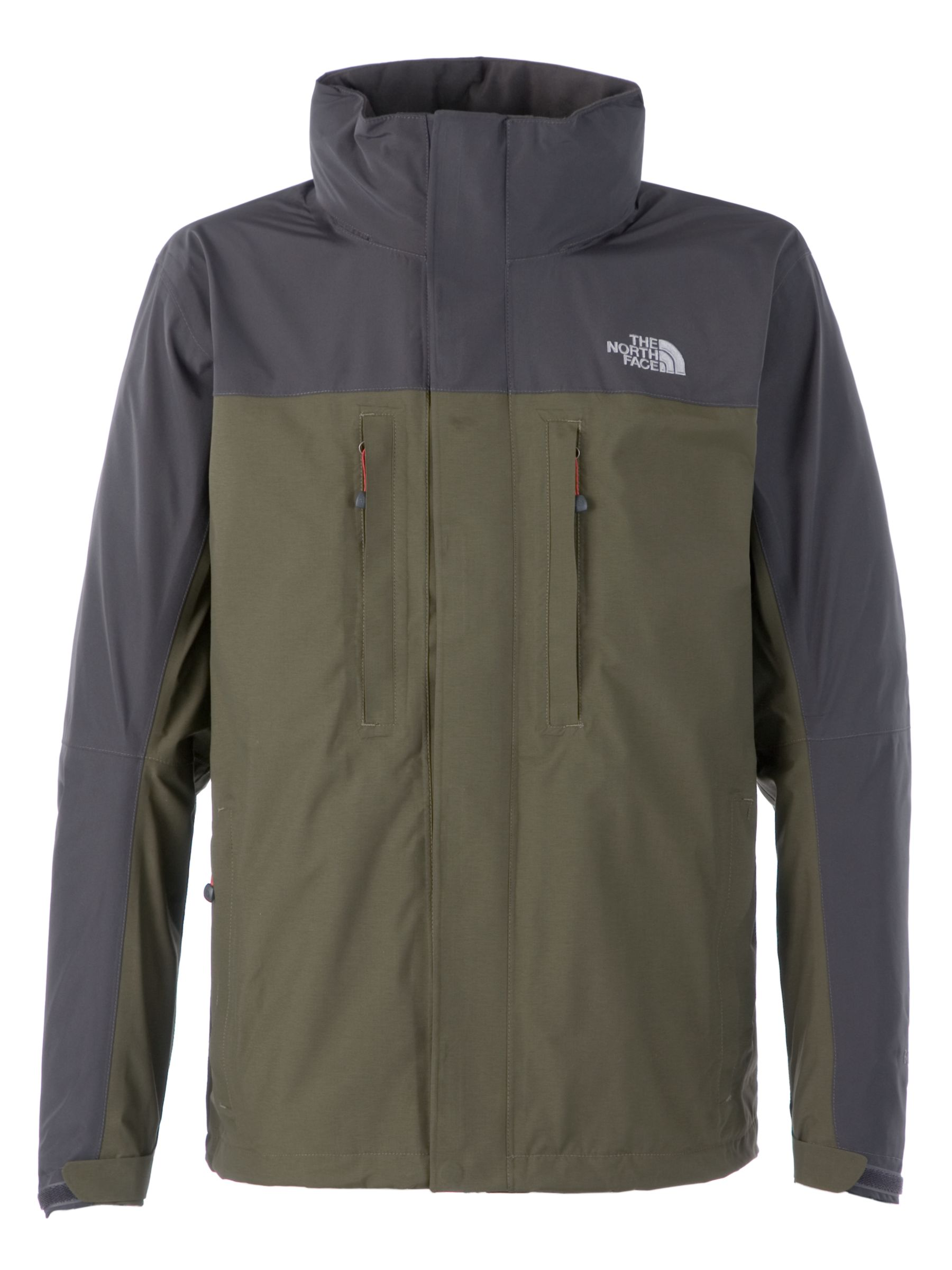The North Face Downpour Waterproof Jacket, Green/Grey at John Lewis