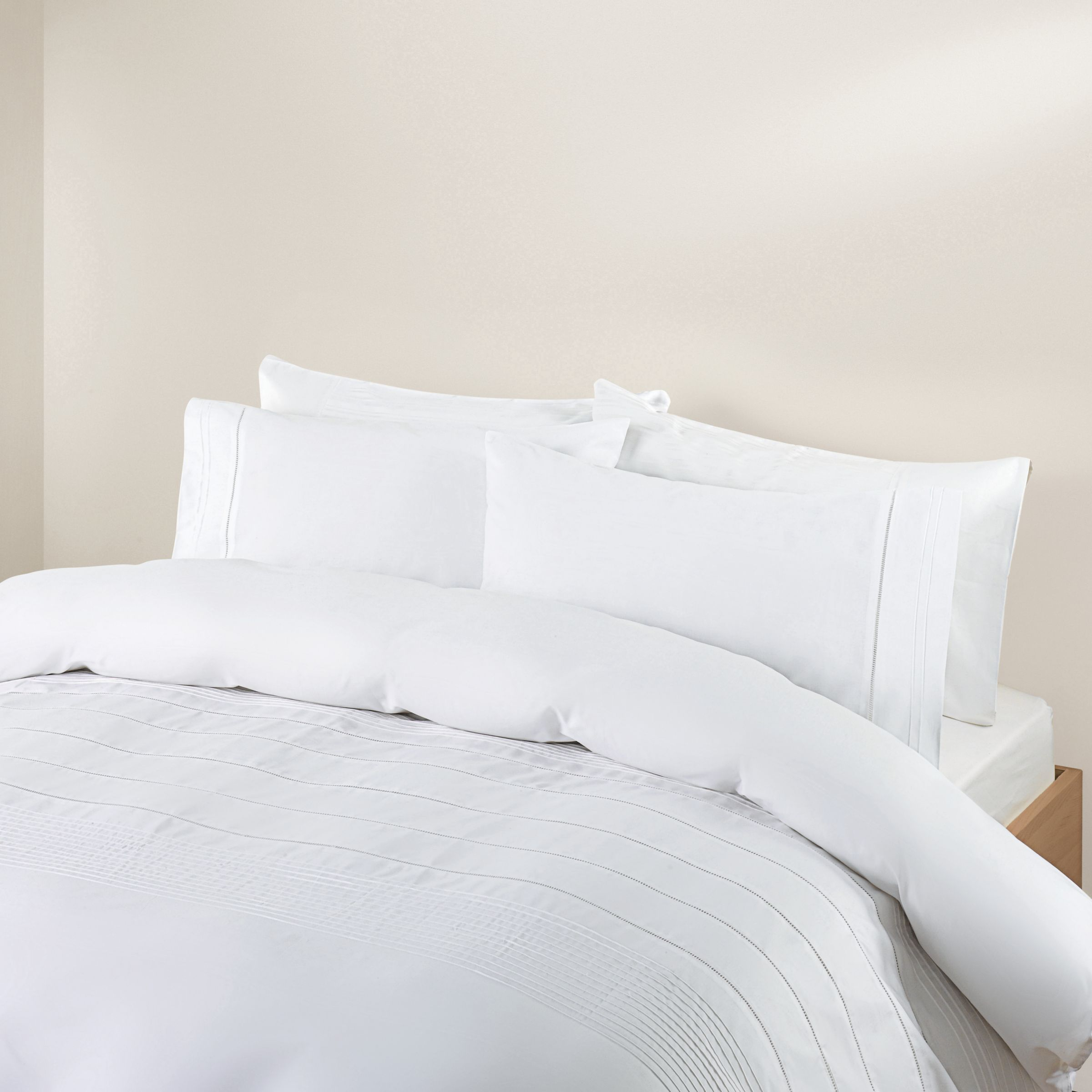 john lewis ladderstitch duvet covers white review. Black Bedroom Furniture Sets. Home Design Ideas