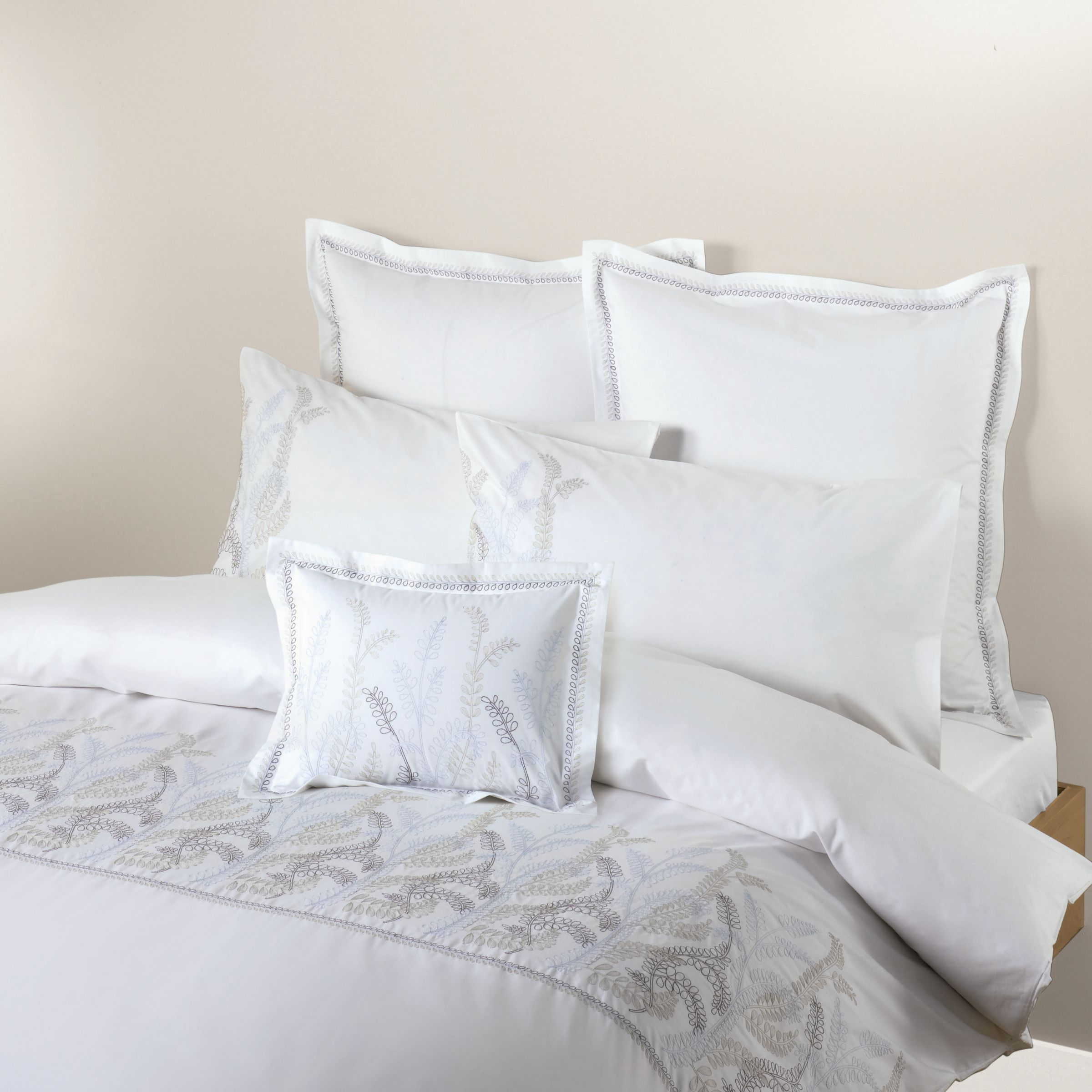 john lewis embroidered leaves duvet covers review. Black Bedroom Furniture Sets. Home Design Ideas
