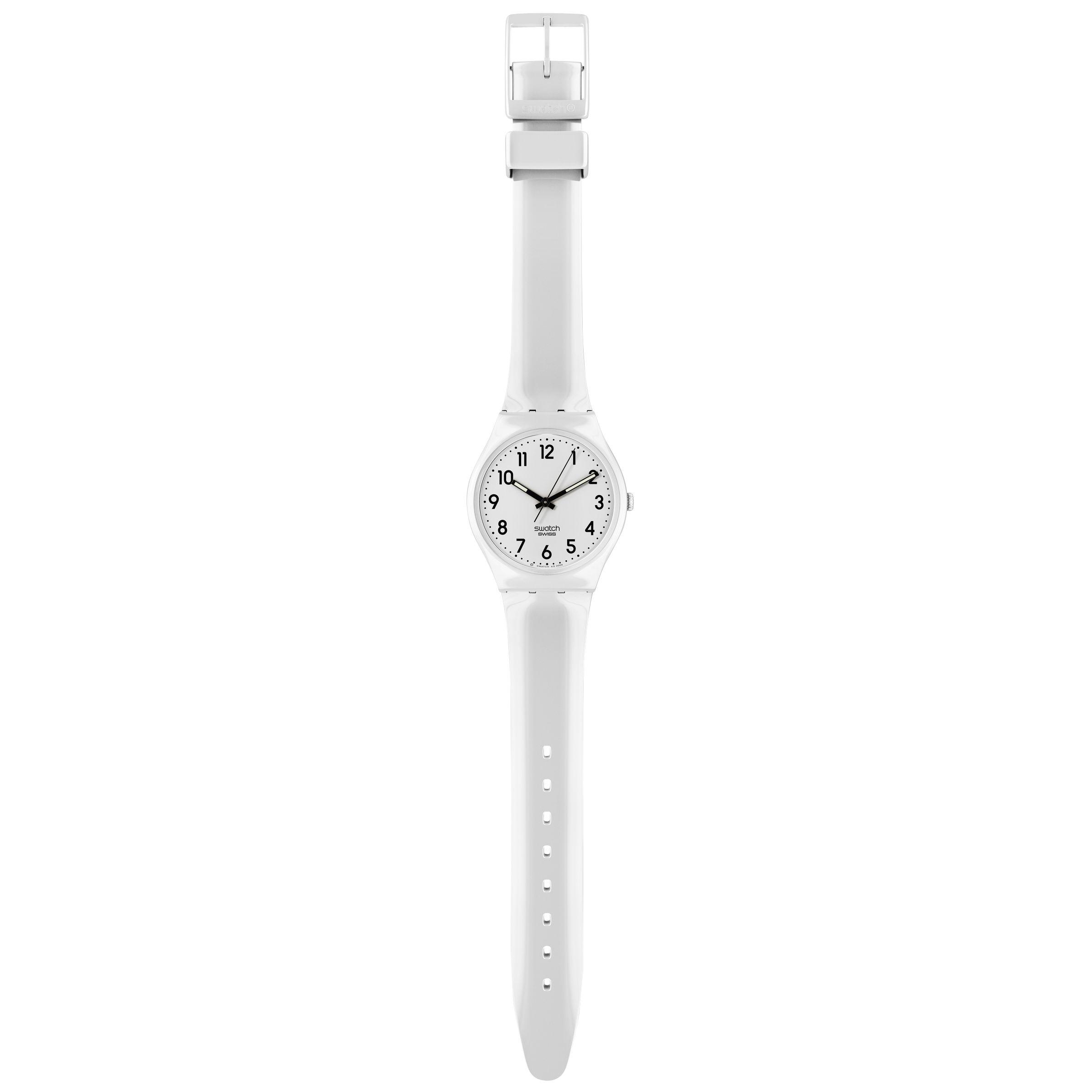 Swatch GW151 Multi-Bi Unisex Analogue Strap Watch, White