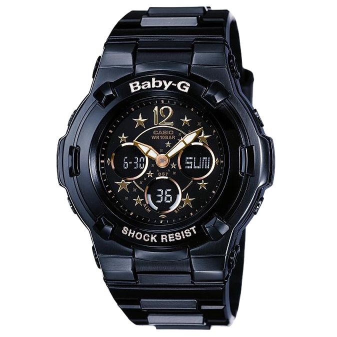 Casio BGA-113B-1BDR Baby-G Chronograph Strap Watch, Black