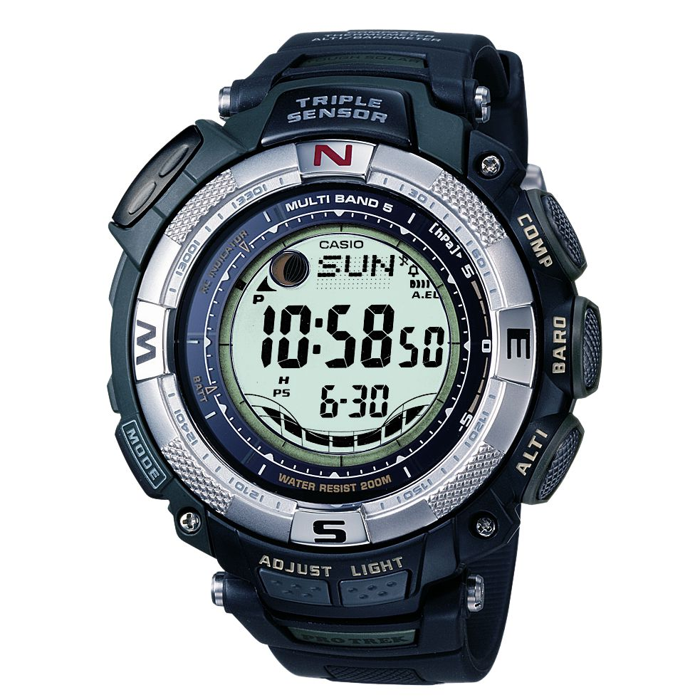 Casio PRW-1500-1VER Pro-Trek Radio Controlled Digital Strap Watch