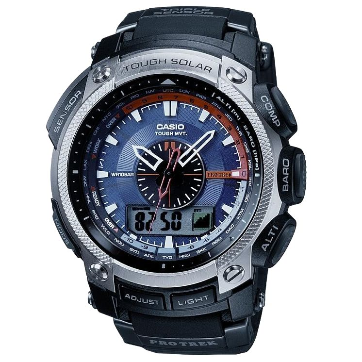 Casio PRW-5000-1ER Pro-Trek Multi Function Analogue Strap Watch